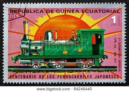 Postage Stamp Equatorial Guinea 1972 Locomotive No 150, 1871