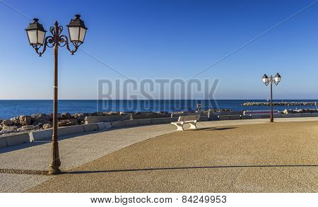 Promenade near the sea, Saintes-Maries-de-la-mer, France
