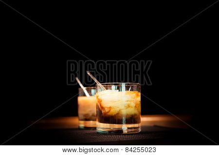 Two White Russian Cocktails