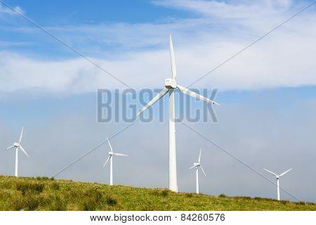 Wind Turbines On A Wind Farm In Galicia, Spain