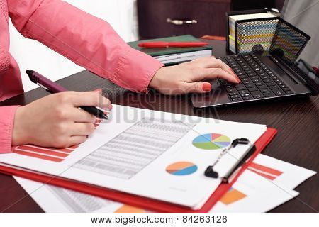 Woman Checking Budget