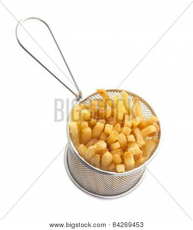 French Fries In A Gastro Pub Serving Basket