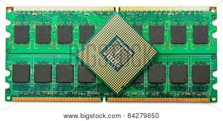 Computer Component Ram And Cpu