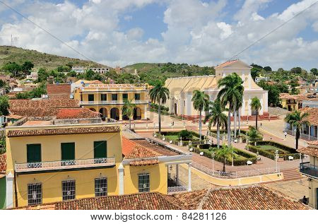 View Of The Town Roofs And Square. Trinidad, Cuba.