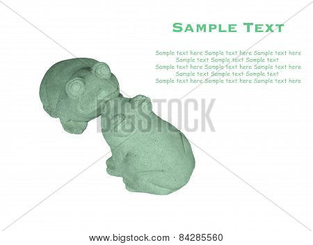 Isolated Kissing Rock Jade Lovely Frog