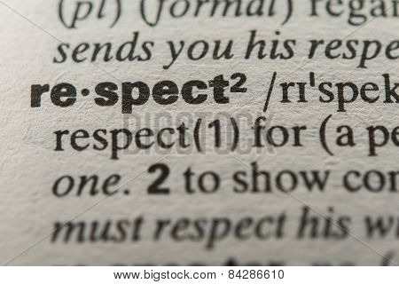 Definition of the word respect close up poster