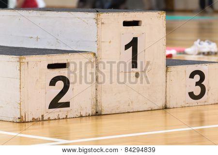Podium For Winner; Success In Sport Activity