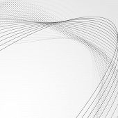 Swoosh wave line abstract modern brochure backdrop - speed dotted swoosh design template. Vector illustration poster