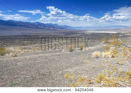 Ubehebe Crater in Death Valley National Park California. Horizontal Image poster