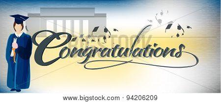 Congratulations text banner