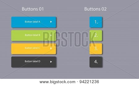 Website Buttons Vector & Photo (Free Trial) | Bigstock