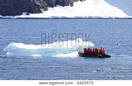 Tourists viewing Iceberg