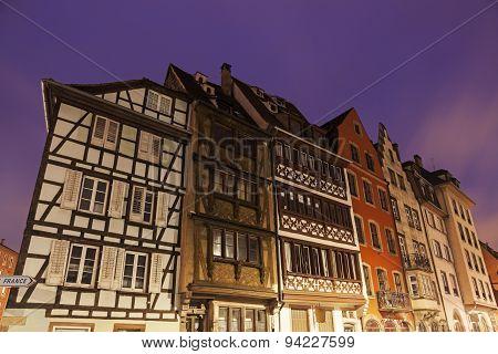 Architecture Of Strassburg At Sunrise
