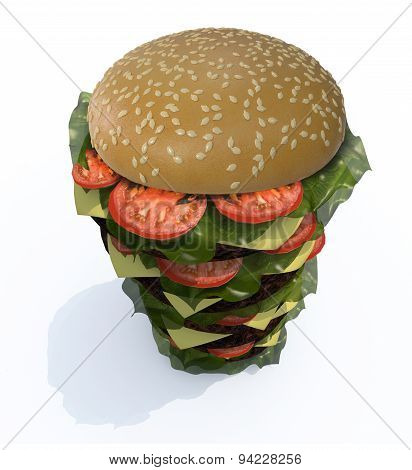 Hamburger Tower 3D