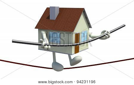 Home With Arms And Legs Acrobat Who Walks On A Wire