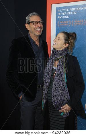 LOS ANGELES - JUN 3:  Jeff Goldblum, Emilie Livingston at the