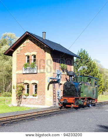 steam locomotive, Steinbach, Germany