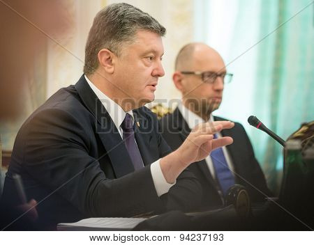 Petro Poroshenko And Arseniy Yatsenyuk