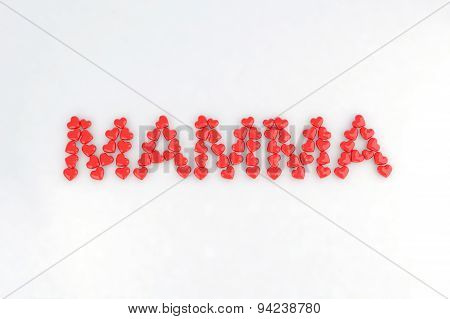 Written Mom With Little Hearts
