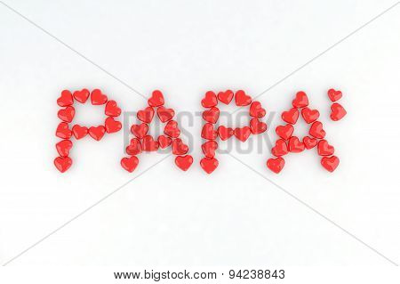 Written Dad With Little Hearts