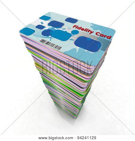 Stack Of Colored Fidelity Cards