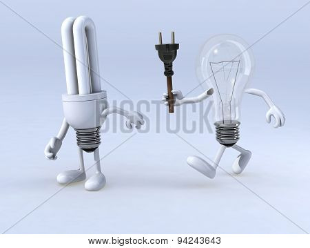 Relay Between Light Bulb And Cfl Bulb