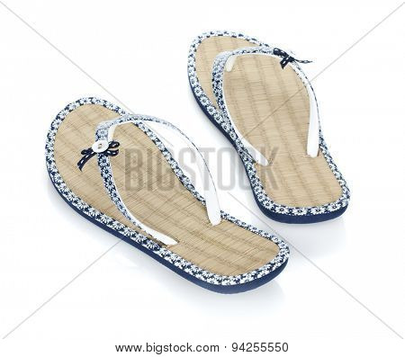 Pair of flipflops. Isolated on white background