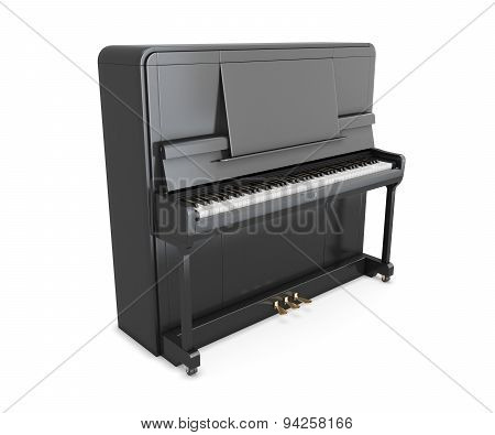 Black Upright Piano