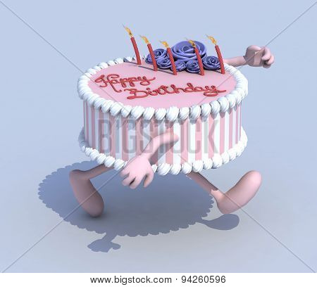 Cartoon Cake With Arms And Legs Runner