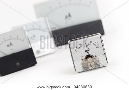 Old Meter Isolated
