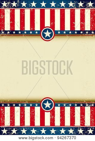 An american background witha large frame for your publicity