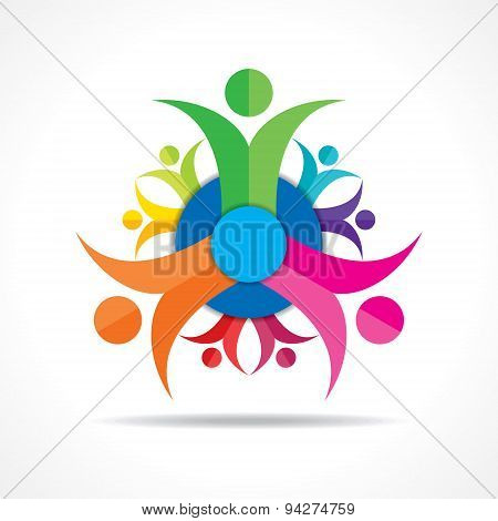 Teamwork Concept - Group of People stock vector
