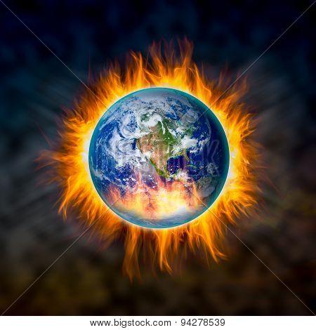 Globe Catching Fire