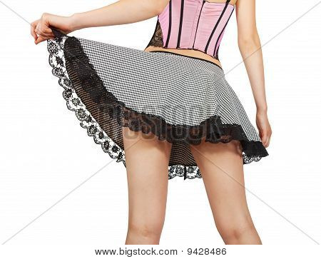 Close Up Of Sexy Young  Maid