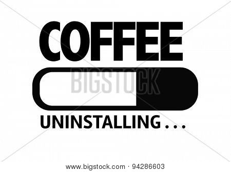 Progress Bar Uninstalling with the text: Coffee