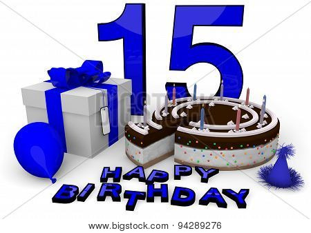 Happy Birthday In Blue