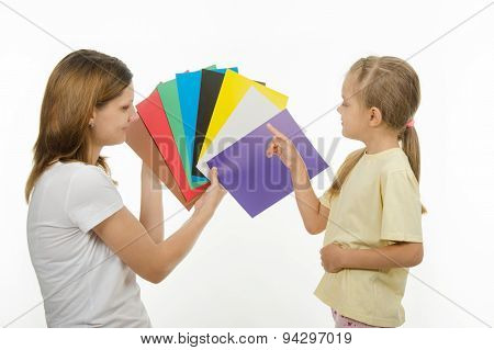 The Child Learns To Identify Colors