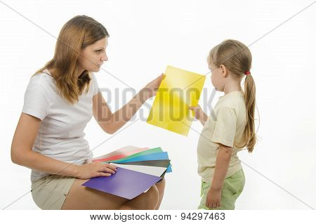 Upset Girl Takes A Picture With Yellow