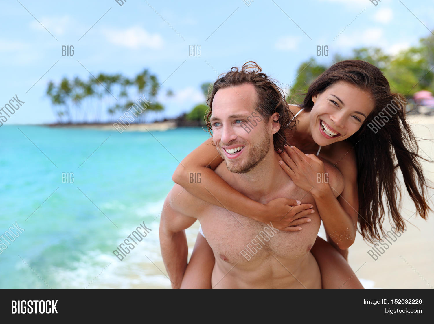 attractive happy couple laughing image & photo | bigstock