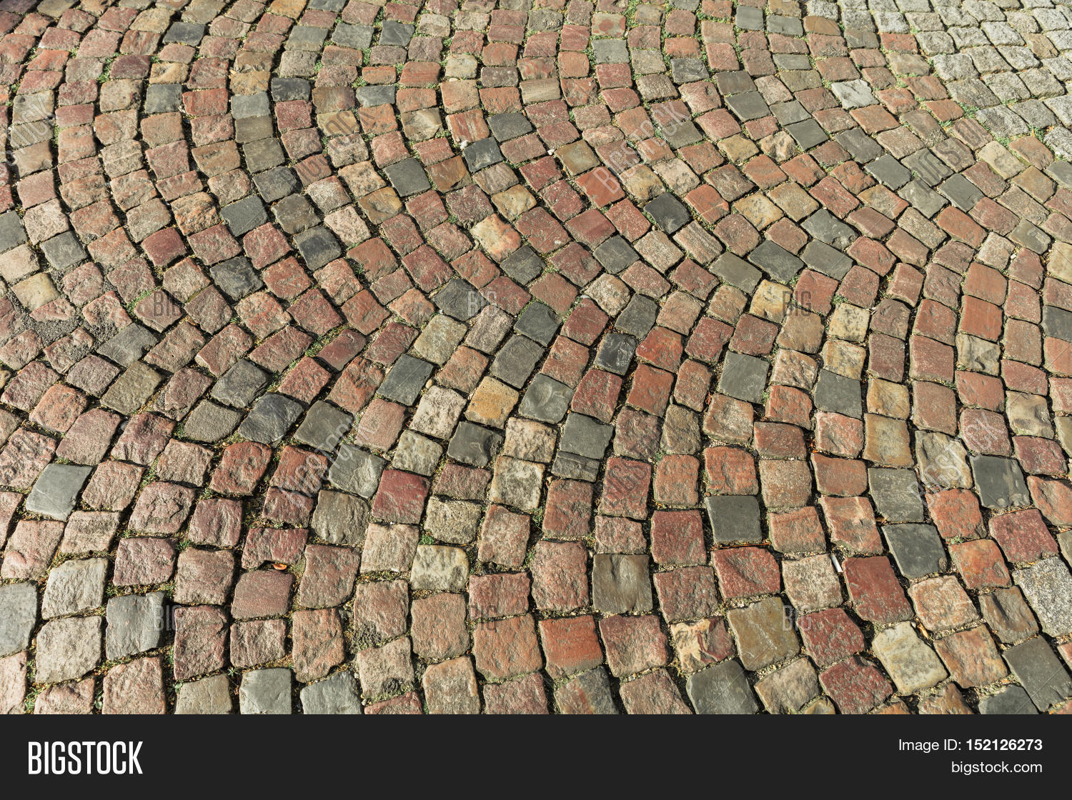 Stone Pavement In Paris : Street paved image photo free trial bigstock