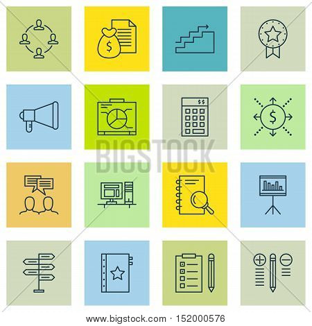 Set Of Project Management Icons On Collaboration, Discussion, Opportunity And Other Topics. Editable