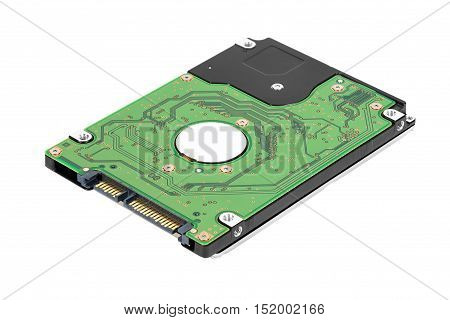 25 inch laptop sata hard drive isolated on white background with clipping path