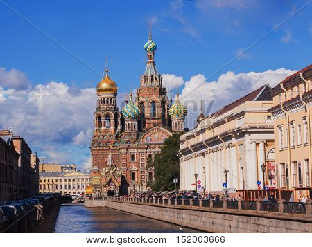 Saint Petersburg, Russia August 31, 2016 The Church on spilled Blood. One of the attractions of St. Petersburg