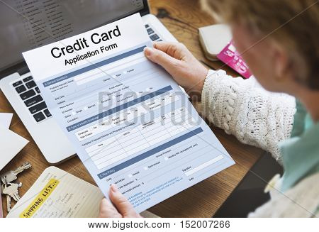 Credit Card Application Form Concept