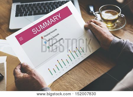 Summary Online Banking Internet Concept