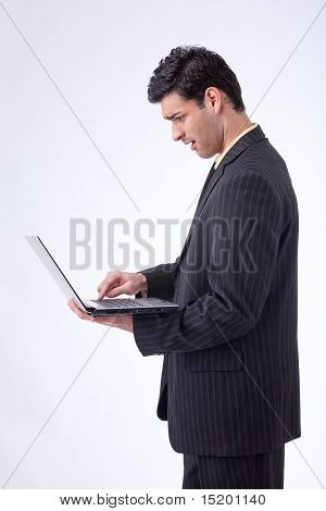 Businessman Standing And Working