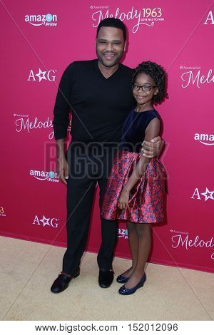 LOS ANGELES - OCT 10:  Anthony Anderson, Marsai Martin at the