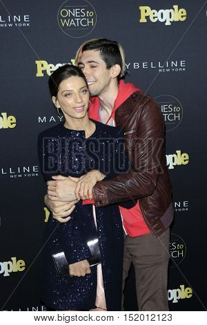 LOS ANGELES - OCT 13:  Angela Serafyan, Max Landis at the People's One To Watch Party at E.P. & L.P on October 13, 2016 in Los Angeles, CA