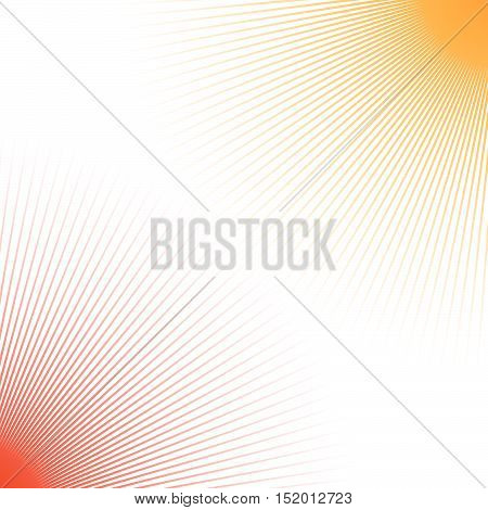 Duotone Abstract Geometric Backdrop With Radial Thin Lines Spreading From Corners