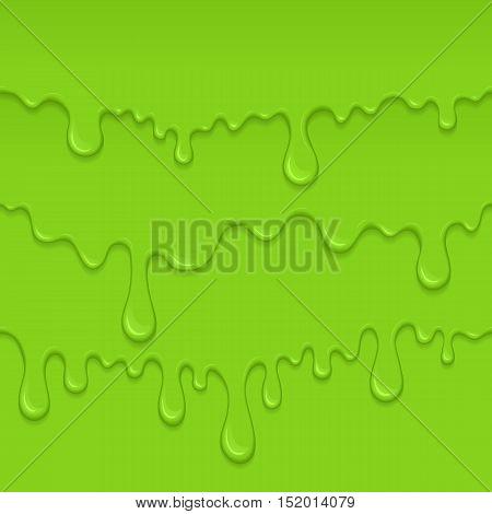 Background Of Dribble Green Slime.